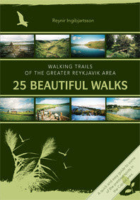 Icelandic Products 25 Beautiful Walks - Reykjavik area Book- ShopIcelandic