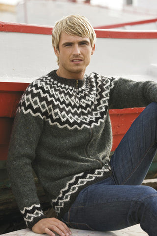 Icelandic sweaters and products - Anchor Cardigan - Grey Wool Sweaters - Shopicelandic.com