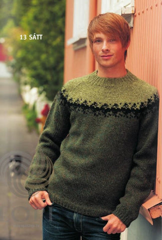 16bd58387a Icelandic Sátt (Truse) Mens Wool Sweater Green - Tailor Made - Nordic Store