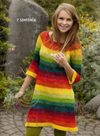 - Icelandic Sinfónía (Symphony) Women Wool Sweater Rainbow - Tailor Made - Nordic Store Icelandic Wool Sweaters  - 1
