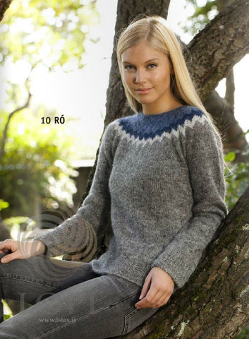 Icelandic sweaters and products - Ró (Calm) Women Wool Sweater Grey Tailor Made - Shopicelandic.com