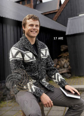 Icelandic sweaters and products - Ari Mens Wool Cardigan Tailor Made - Shopicelandic.com