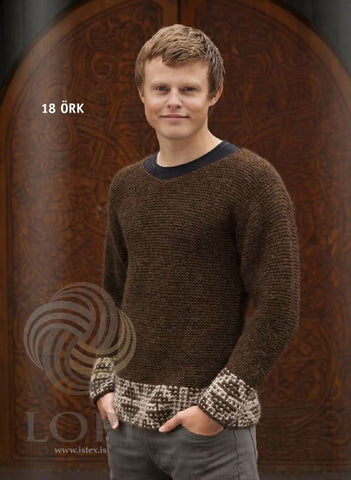 - Icelandic Örk (Ark) Mens Wool Sweater Brown - Tailor Made - Nordic Store Icelandic Wool Sweaters  - 1