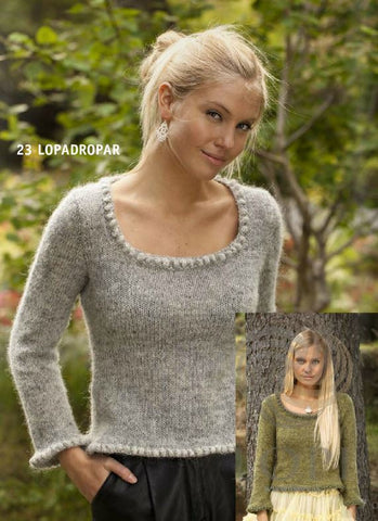 - Icelandic Lopadropar (Wooldrops) Women Wool Sweater Grey - Tailor Made - Nordic Store Icelandic Wool Sweaters  - 1