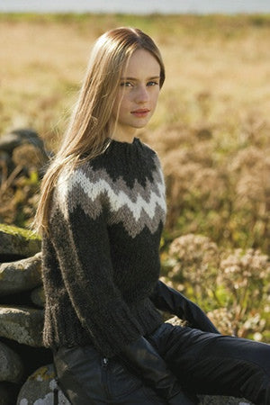Icelandic sweaters and products - Rosa Black Sweater Wool Sweaters - Shopicelandic.com