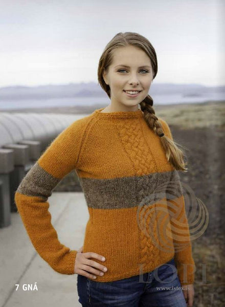 '- Icelandic Gná Women Wool Sweater Orange - Tailor Made - Nordic Store Icelandic Wool Sweaters  - 1