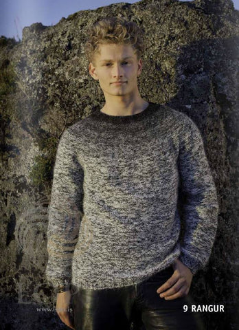 Icelandic sweaters and products - Rangur (Inside Out) Mens Wool Sweater Grey Tailor Made - Shopicelandic.com