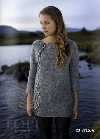Icelandic sweaters and products - Bylgja Women Wool Sweater Grey Tailor Made - Shopicelandic.com