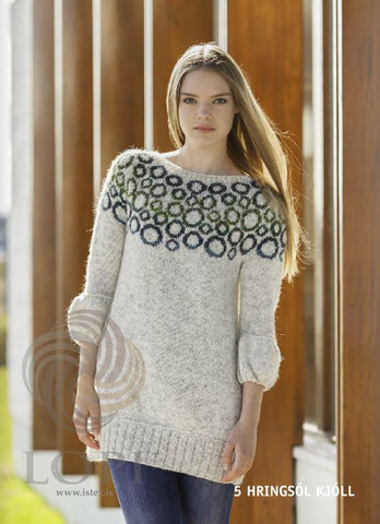 - Icelandic Hringsól Women Wool Dress - Tailor Made - Nordic Store Icelandic Wool Sweaters  - 1