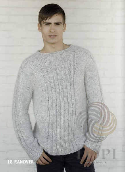 '- Icelandic Randver Mens Wool Sweater Light Grey - Tailor Made - Nordic Store Icelandic Wool Sweaters  - 1