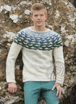 - Icelandic Ísrönd Mens Wool Sweater - Tailor Made - Nordic Store Icelandic Wool Sweaters  - 1