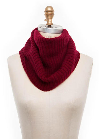 Wool Collar Burgundy