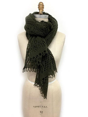 Iceland Wool Scarf Green