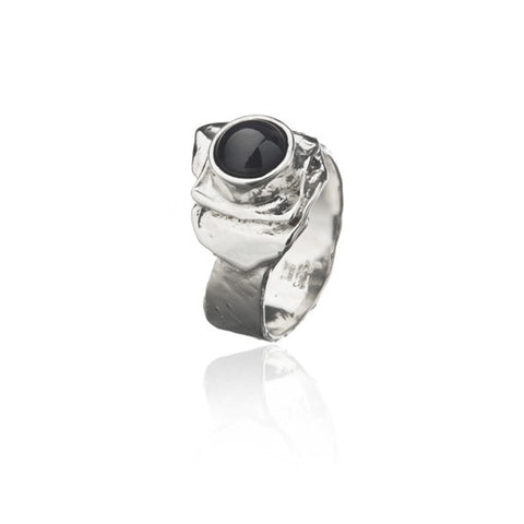 Icelandic sweaters and products - Black lava pearl ring Jewelry - Shopicelandic.com