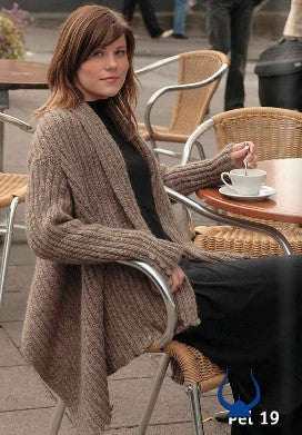 ÞEL Istex Light Brown Cardigan - knitting kit - Wool Knitting Kit - Shop Icelandic Products