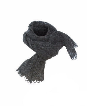 Ladies Wool Shawl Dark Grey - Wool Accessories - Shop Icelandic Products