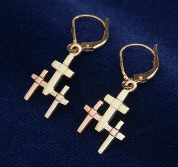 Icelandic sweaters and products - Golden Trinity Earrings Jewelry - Shopicelandic.com