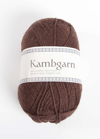 Icelandic sweaters and products - Kambgarn - 9652 Chocolate Kambgarn Wool Yarn - Shopicelandic.com