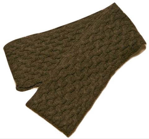 Icelandic sweaters and products - ARN Long Scarf - Brown Wool Accessories - Shopicelandic.com