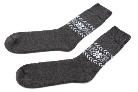 Icelandic sweaters and products - Álafoss Wool Socks w/ Traditional Pattern Wool Socks - Shopicelandic.com