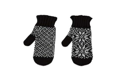 Icelandic sweaters and products - Álafoss Rose Pattern Wool Mittens Wool Mittens - Shopicelandic.com