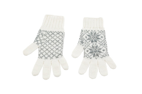 Icelandic sweaters and products - Álafoss Rose Pattern Wool Gloves Wool Gloves - Shopicelandic.com