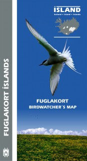 Icelandic sweaters and products - Birdwatcher´s Map Maps - Shopicelandic.com