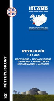 Reykjavik City Map - 1:15.000 - Maps - Shop Icelandic Products