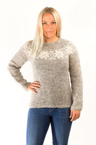 Icelandic sweaters and products - Eykt Wool Pullover Grey Wool Sweaters - Shopicelandic.com