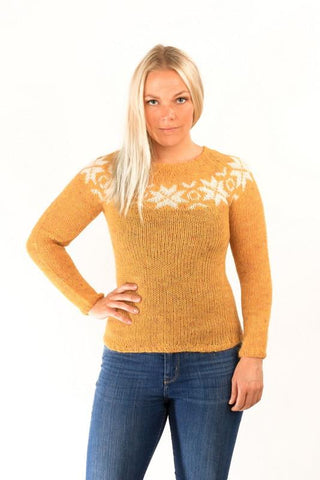 Icelandic sweaters and products - Eykt Wool Pullover Yellow Wool Sweaters - Shopicelandic.com