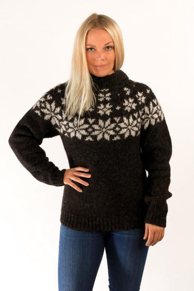 Icelandic Products Fönn Wool Sweater Black Wool Sweaters- ShopIcelandic