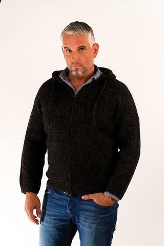 Icelandic sweaters and products - Freri Wool Cardigan Black Wool Sweaters - Shopicelandic.com