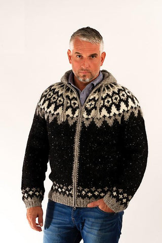 Icelandic sweaters and products - Frost Hooded Wool Cardigan Wool Sweaters - Shopicelandic.com