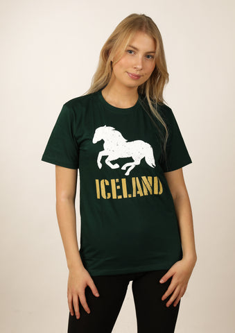 Icelandic sweaters and products - Women's Iceland Horse Tshirts - Shopicelandic.com