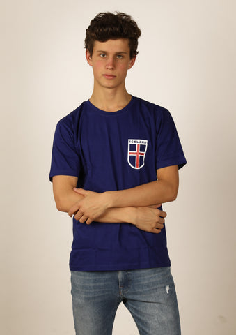 Men's t-shirt Iceland Flag Shield
