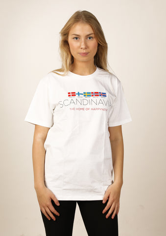 Icelandic sweaters and products - Women's Iceland Happiness Tshirts - Shopicelandic.com