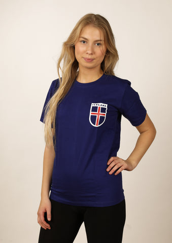 Women's t-shirt Iceland Flag Shield