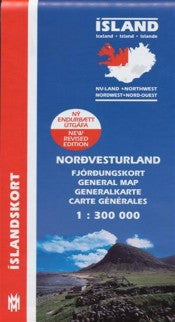 General Maps - North West Iceland - 1:300.000 - Maps - Shop Icelandic Products