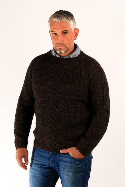 Gudbjartur Wool Sweater Sheep Black - Wool Sweaters - Shop Icelandic Products - 1