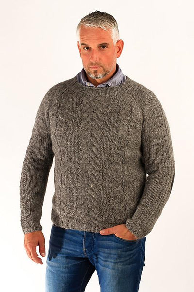 Gudbjartur Wool Sweater Grey - Wool Sweaters - Shop Icelandic Products - 1
