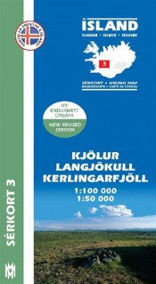 Hiking Map 3 - Kjölur, Langjökull, Kerlingarfj. - 1:100.000 - Maps - Shop Icelandic Products