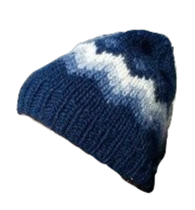 Traditional Wool Hat - Blue - Wool Accessories - Shop Icelandic Products