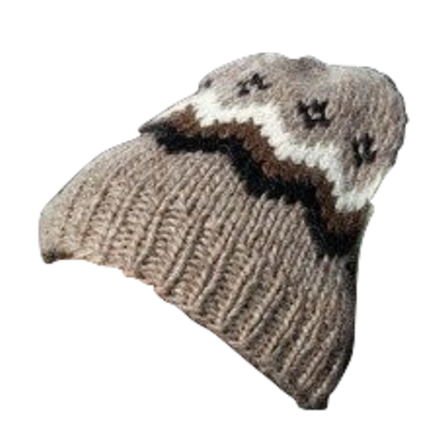 Traditional Wool Hat - Brown - Wool Accessories - Shop Icelandic Products