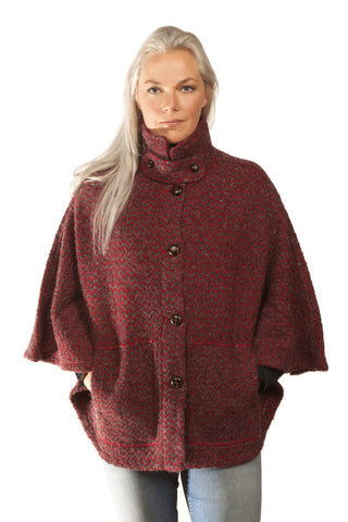 Icelandic sweaters and products - Magga Cape - Red Design Product - Shopicelandic.com