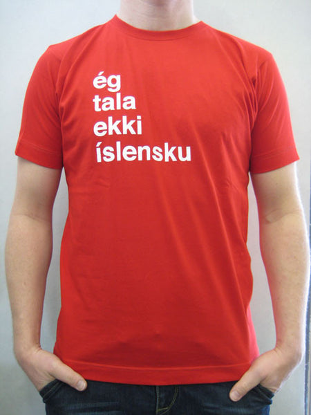 I don't speak Icelandic - Red, Mens T-shirt - Clothing - Shop Icelandic Products