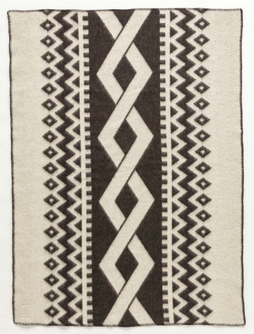 Icelandic sweaters and products - Lopi Wool Blanket - Dark Braid (0401) Wool Blanket - Shopicelandic.com