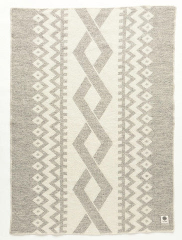 Lopi Wool Blanket - Grey Braid (0402) - Wool Blanket - Shop Icelandic Products