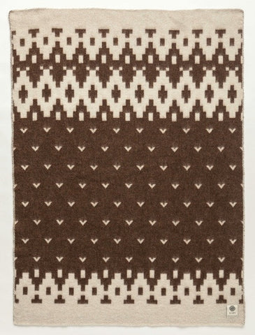 Lopi Wool Blanket - Brown Bird (0501) - Wool Blanket - Shop Icelandic Products