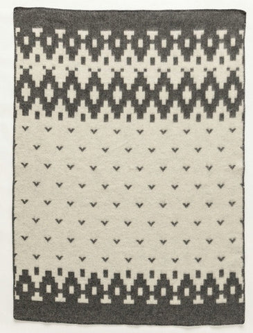 Lopi Wool Blanket - Grey Bird (0502) - Wool Blanket - Shop Icelandic Products