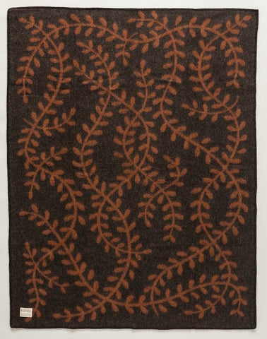 Magic Elf Forest Wool Blanket - Brown (1003) - Wool Blanket - Shop Icelandic Products - 1